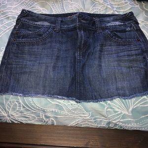 Express Jean Skirt worn once